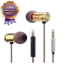 Handmade Genuine Bullet Metal Housing Deep Heavy Bass Headphones In-Ear Earbuds