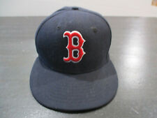 New Era Boston Red Sox Hat Cap Fitted 7 1/8 Blue David Ortiz Patch Baseball Mens
