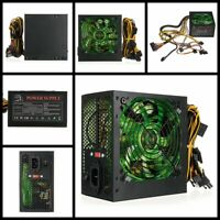 800W Quiet PC Power Supply 24 Pins ATX Gaming PSU+LED Fan For Desktop Computer A