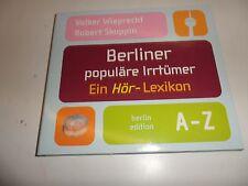CD de Berlin populaire erreurs. CD: un arrête-Lexique de volker wieprecht