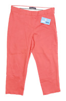 Womens Marks & Spencer Red Cotton Blend Trousers Size 12/L21