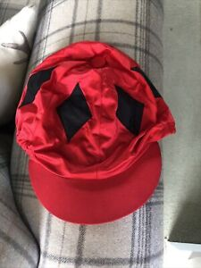 Red Riding Hat Cover With Black Diamonds