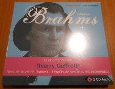 2 CD AUDIO EPONYMES LU & ENTENDU RECIT DE LA VIE + EXTRAIT BRAHMS HARMONIA MUNDI