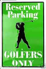 Golfer's Parking Only Violators Will Be Clubbed Tin Sign Gameroom Garage USA