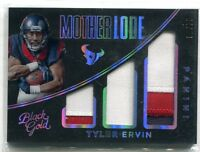 2016 Panini Black Gold Tyler Ervin Mother Lode TRIPLE PATCH RELIC RC 4/50