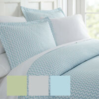 Home Collection Premium Ultra Soft 3 Piece Puffed Chevron Print Duvet Cover Set