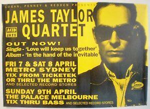 JAMES TAYLOR QUARTET (J T Q)  APRIL 1995 AUSTRALIAN TOUR - ORIGINAL PROMO POSTER