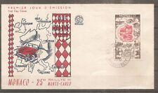 TIMBRE MONACO 1955 FDC 1ER JOUR N°420 OBLITERE USED 25eme RALLYE