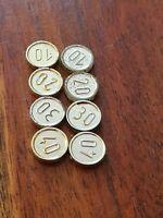 LEGO set 6289 Pirates Ref 70501 Lot de 8 pieces d'or Gold Coins