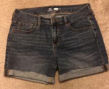Women's Sz 6 Old Navy Denim Cuffed Fitted Shortie Shorts