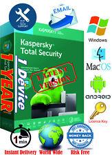 Antivirus Kaspersky Total Security -1Dev/1Yr - Instant delivery - World Wide Key
