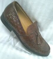 Johnston & Murphy Men•Tassel•Leather~Tan/Brown~Oxford/Loafers~Dress~Shoes~Sz•7M