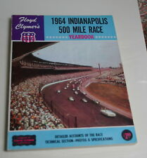 1964  CLYMER YEARBOOK INDY 500 INDIANAPOLIS FOYT JONES SACHS BRABHAM MUCH MORE