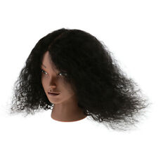 """New Hairdressing Cosmetology Training Mannequin Manikin Head Afro 16"""" Human Hair"""