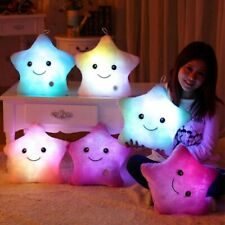Cute Five-pointed Star Luminous Pillow Colorful Soft Plush Glowing Children Toy