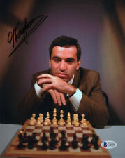 GARRY KASPAROV SIGNED AUTOGRAPHED 8x10 PHOTO CHESS GRANDMASTER CHAMP BECKETT BAS