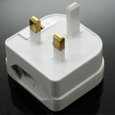 Converter Adaptor EU 2 to 3 Pin Plug UK Travel Mains Power Connections D7B3 I4L7
