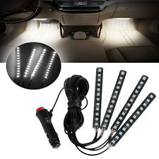 Hot White 4x12LED Car Interior Light Atmosphere Decorative Light Neon Lamp Strip