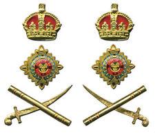 British English UK Officer General Set Uniform Rank Crown Pip Crown Army War QE