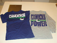 2012-13 Vancouver Canucks Age 18/20 XL 3 in 1 Combo T Shirt Child Kids 2 Shirts