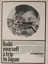 1969 Revell Yamaha 350 Grand Prix Bike 1.18 Scale Model Kit Toy 7 1/4x10 1/4 AD