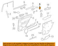 BMW OEM 03-08 760Li Interior-Rear Door-Adapter Right 51167013100