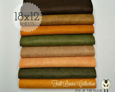 "Fall Leaves Felt Collection, Merino Wool Blend Felt, Eight 12"" X 18"" Sheets"
