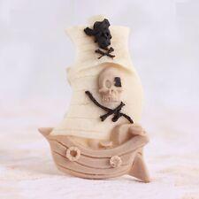 3D Pirate Boat Silicone Fondant Chocolate Sugarcraft Cake Soap Mold Baking DIY