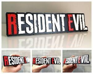Resident Evil 3D logo / shelf display / fridge magnet - gaming collectible