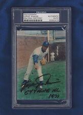 Fergie Jenkins Autographed Baseball HOF Chicago Cubs 3x5 George Brace Photo PSA