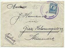 couvertures-colombie. 22/10/1923. 10c bleu affranchissement sur la couverture à