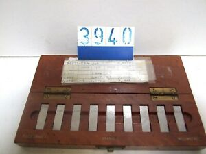 Matrix Pitter Microw Grade 1 slip gauge set. 1.001mm - 1.009mm (3940)
