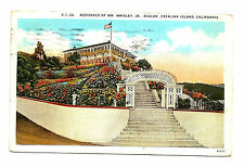 Old 1926 CATALINA ISLAND CA Postcard Wrigley Avalon CALIFORNIA