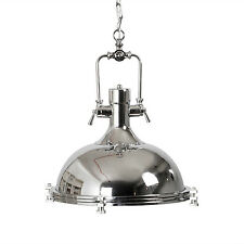 Industrial Pendant Lamp Polished Chrome Lampshade Ceilling Loft Down Lighting