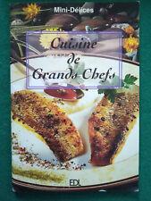 LIBRO French CUISINE DE GRANDS CHEFS ricettario cucina francese 2003 63 pagine