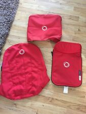 Bugaboo cameleon Red Hood seat liner and Apron Tailored Fabric Set