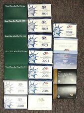 1994 Thru 2012 US Proof Set Run Of 19 Consecutive All in OGP w/ COA's