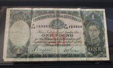 Commonwealth Australia 1938 Sheehan McFarlane £1 One Pound Banknote R29 VG