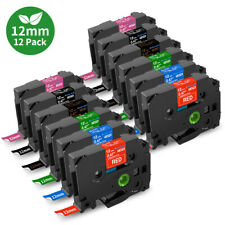 12pk Tze 231 Tze 335 Compatible Brother P Touch Label Tape 12mm 047 Pt D210