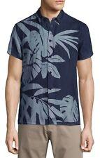 Orlebar Brown James Bond Foliage Print Short Sleeve Shirt Blue Size S £175 BNWT