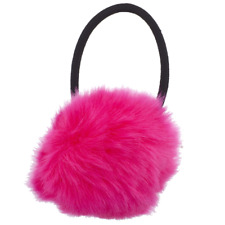 Lux Accessories Fuschia Hot Pink Faux Fur Pom Pom Stretch PonyTail Holder