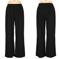 NWOT SPANX Black Wide-Leg Pull-on pants with built-in shapewear Sz. 1X
