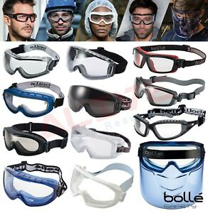 Bolle Safety Goggles Glasses Various Types Eye Protection Fit Over Spectacles