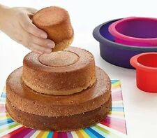 Silicone 3 Cake Pan Round Baking Bakeware Mold Pastry Tray Mould Tin Z
