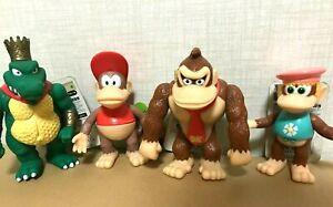 RARE MINT Donkey Kong Family Soft vinyl PVC Figure 4PCS SET Vintage TAKARA 1999