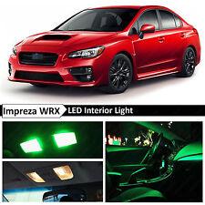 10x Green Interior LED Light Package Kit 2015-2017 Subaru WRX STI