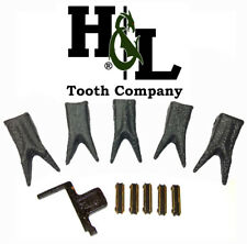 H&L 230 Special Edition Dragon Skin Twin Claw Bucket Teeth + Flexpins® (5 Pack)