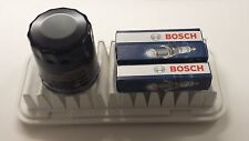 Peugeot 107 1.0 998cc Oil Air Filter Bosch Spark Plugs Service Kit 2005-2013