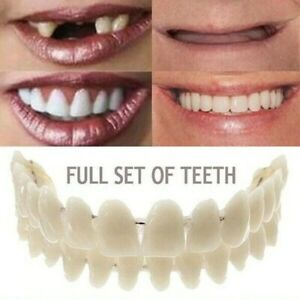 Magic Teeth Brace 2Pcs Temporary Smile Comfort Fit Cosmetic Denture Teeth