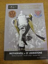 16/04/2011 Scottish Cup Semi-Final: Motherwell v St Johnstone [At Hampden Park]